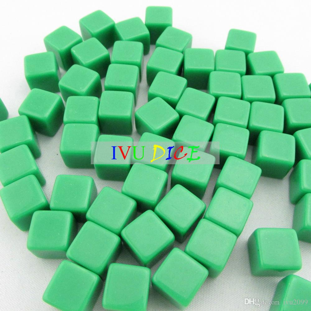 20pcs 12MM Square corners blank dice GREEN Cube game party machine Children dices bosons Free Shipping IVU