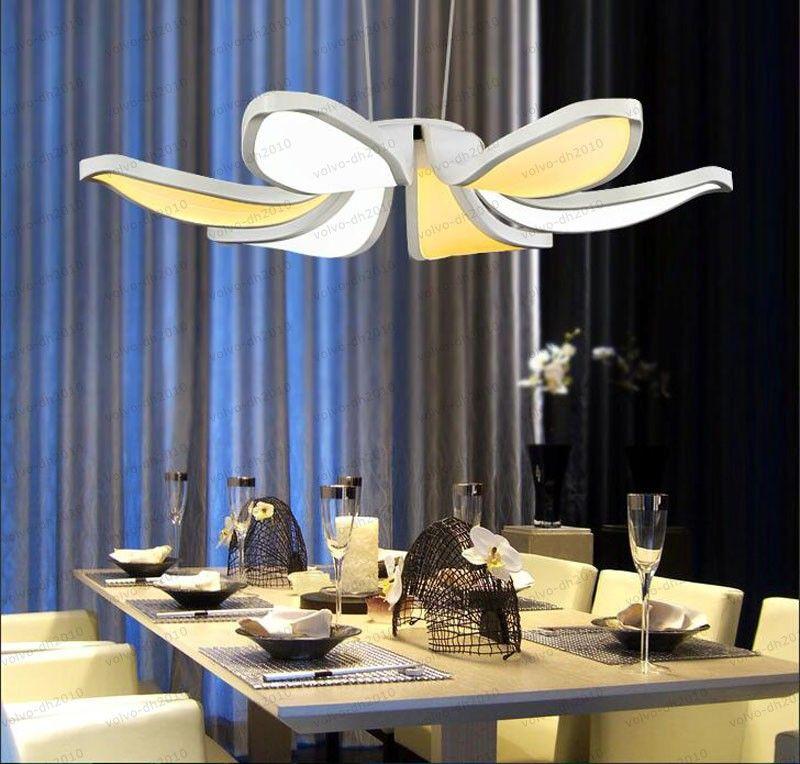 Contrato de moda moderno Estilo de flor Acrílico Color doble LED Luces colgantes Café lámpara de ocio lámpara colgante para el comedor LLFA
