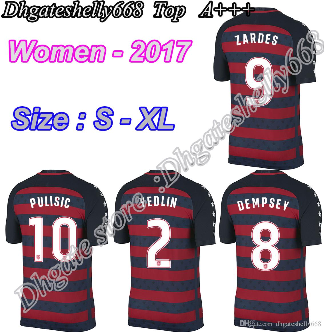 1b0fa50c012 ... Top Thai 2017 Concacaf Gold Cup USA Nation Team Women Soccer Jerseys