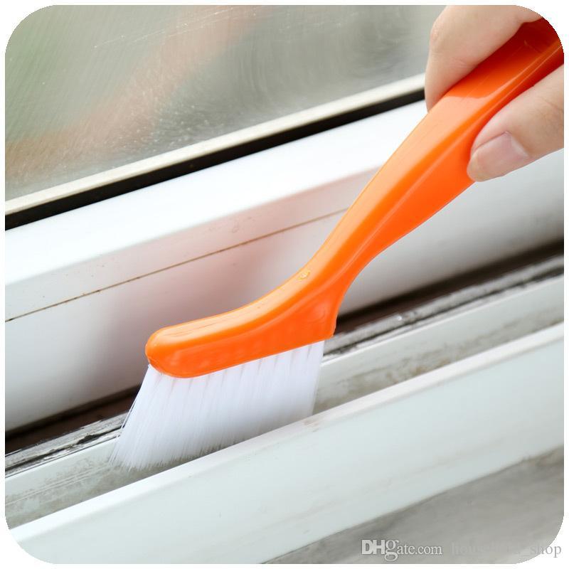 2 in 1 Çok Amaçlı Pencere Oluk Temizleme Fırçası Nook Cranny Ev Klavye Ev Mutfak Katlanır Fırça Temizleme Aracı