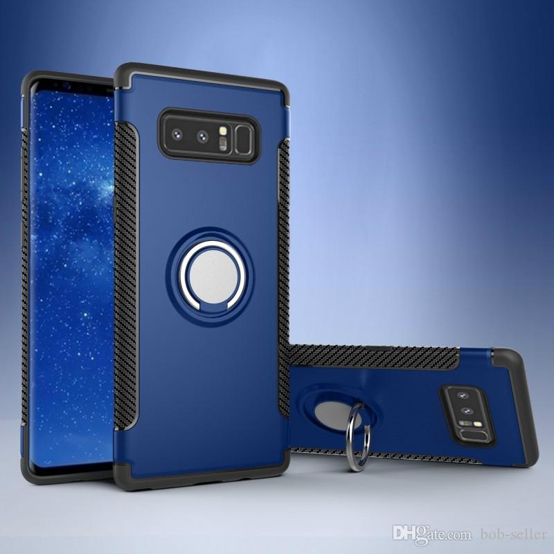 إلى Samsung note8 S8 S8 + S7 edge for Apple iPhone X 8 7 6S Plus مغنطيس المركبات مسنده ضد الصدمات