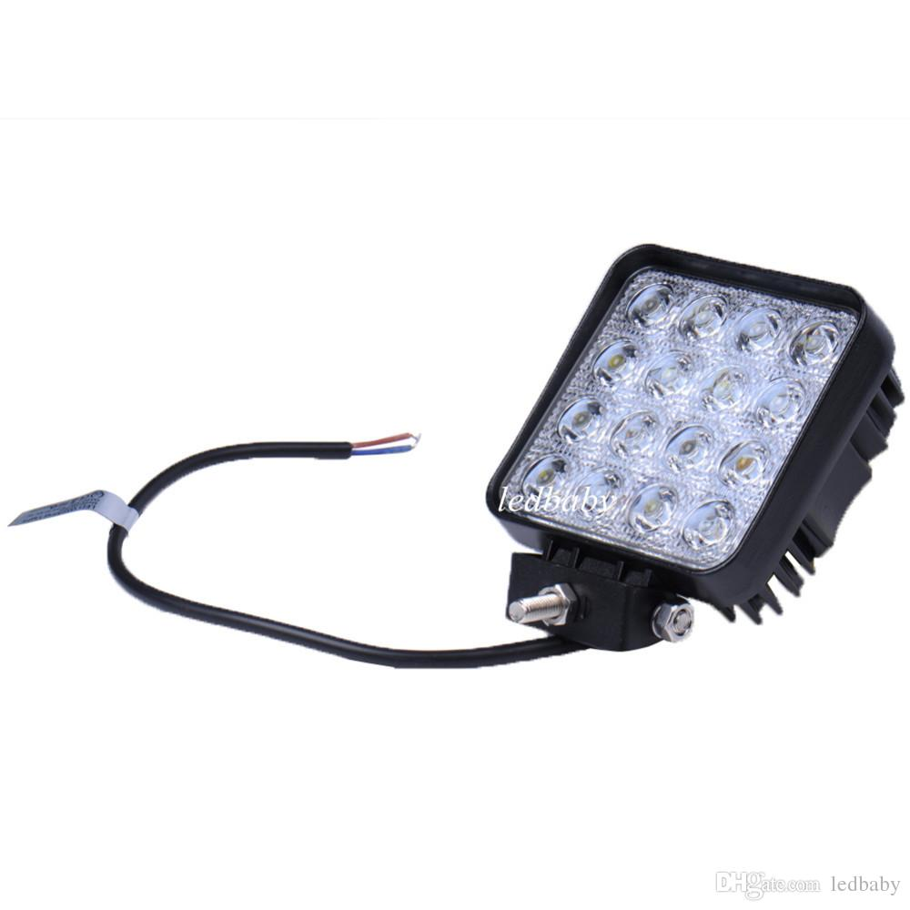 48W LED Work Light for Indicators Motorcycle Driving Offroad Boat Car Tractor Truck 4x4 SUV ATV Flood 12V 24V