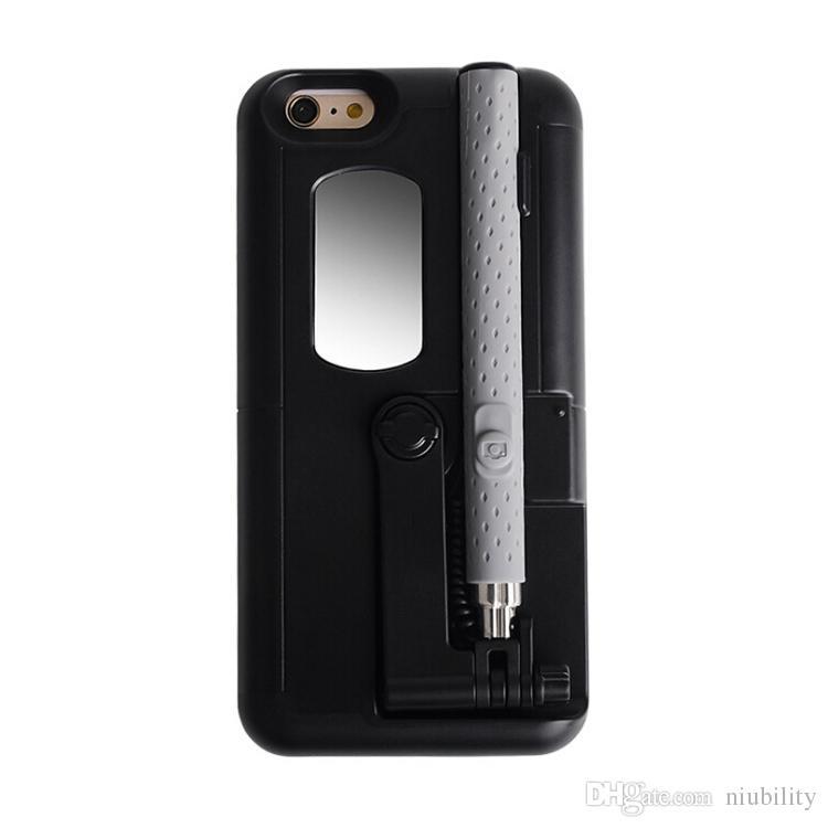 2016 Custodia rigida Iphone 7 6 Plus Con l'albero Moda flessibile vs Portafoglio Custodia in pelle PU S7 Custodia TPU Cover TPU Case Confezione al dettaglio
