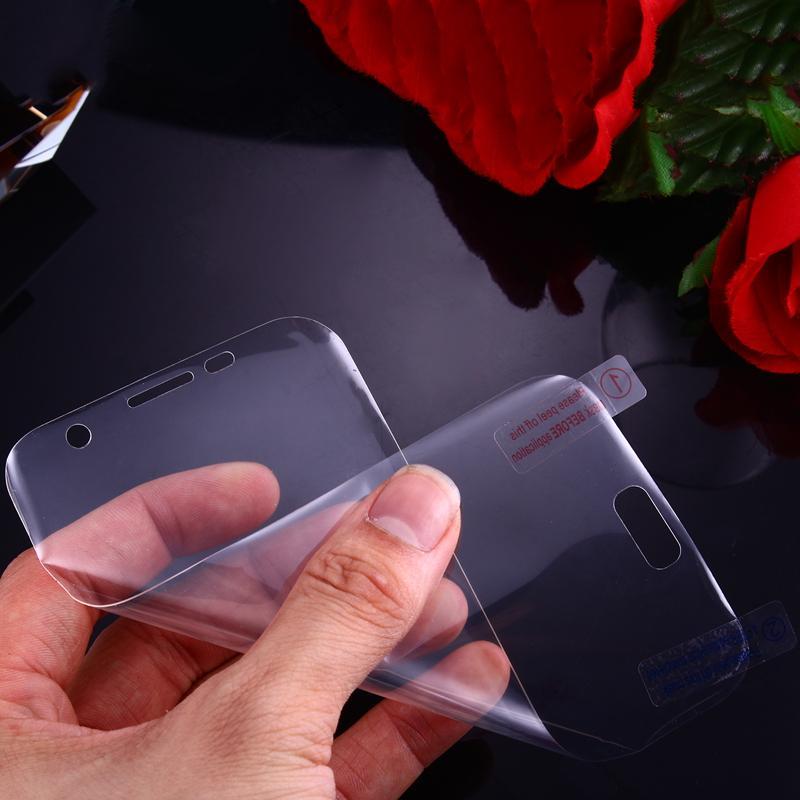 3D изгиб изогнутый передний + задний протектор экрана для Galaxy Note9 S9 S8 S7 / edge / S6 плюс 0,1 мм ПЭТ часть полное покрытие поверхности изгиб 2 в 1 фильм + Коробка