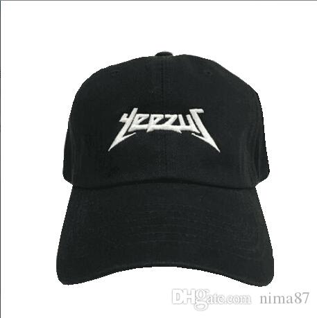 4963d6c7b39 Black Letter Yeezus Cap Hat Yeezus Boost 350 750 Duck Boot Season 1 100%  Coton Chapeau Strapback Snapback Cap Gorras 6 Panel Hat Hatland Brixton Hats  From ...