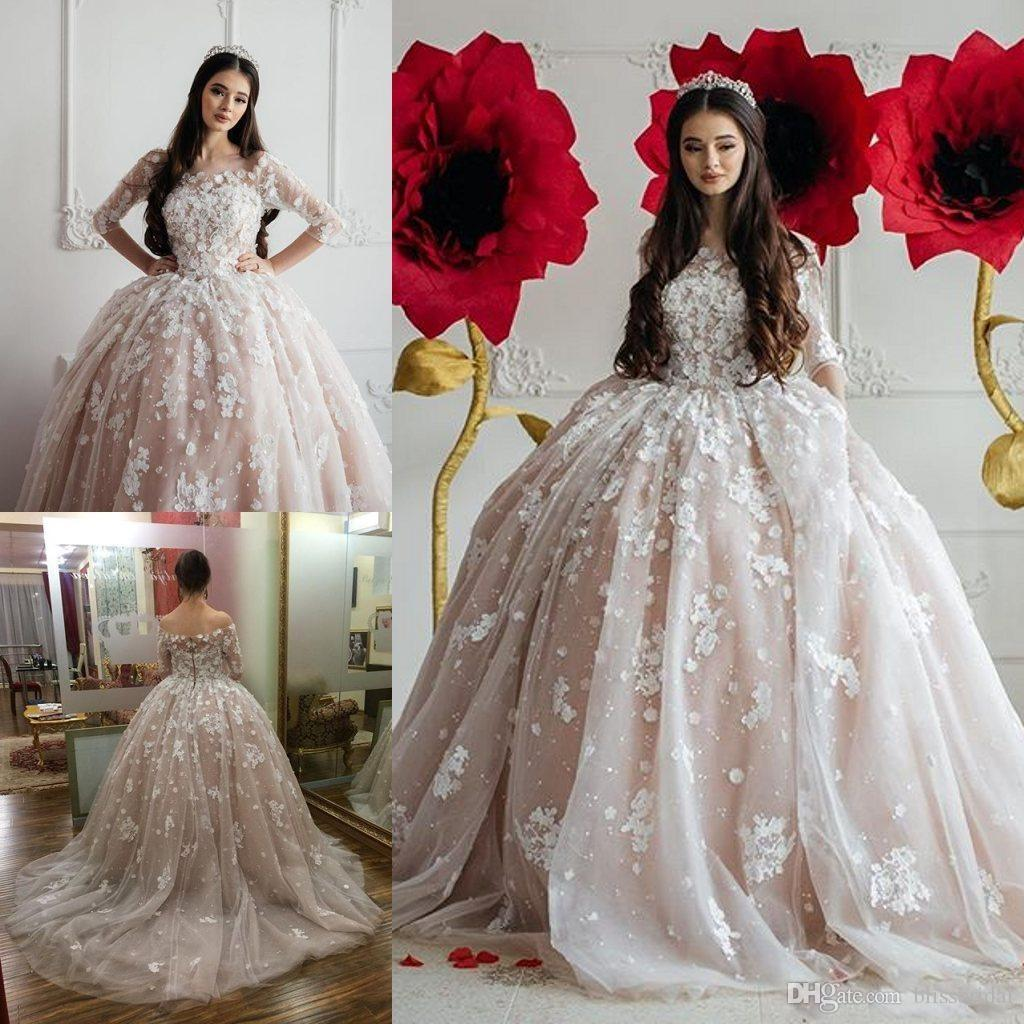 Luxury Ball Gown Champagne Prom Dresses 2016 Off The Shoudler Long ...