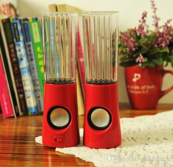 الصمام الرقص المياه المتكلم نشط USB المحمولة ضوء المتكلم عن اي فون باد PC 4 ألوان مضخم صوت العمود الصوت الصوت