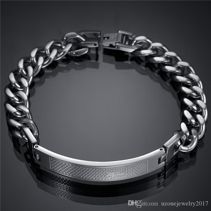 Factory Direct 2016 New Men Jewelry Name Bracelet Stainless Steel