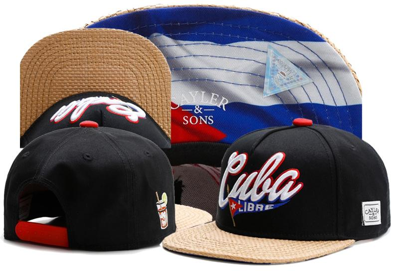 81fc0c8ba21 New Brand C S CUBA LIBRE CAP Cuban Flag Black Baseball Cap Snapback Hat  Sports Hip Hop Adult Sun Active Cap For Men Women Bone Snapback Caps Fitted  Hats ...