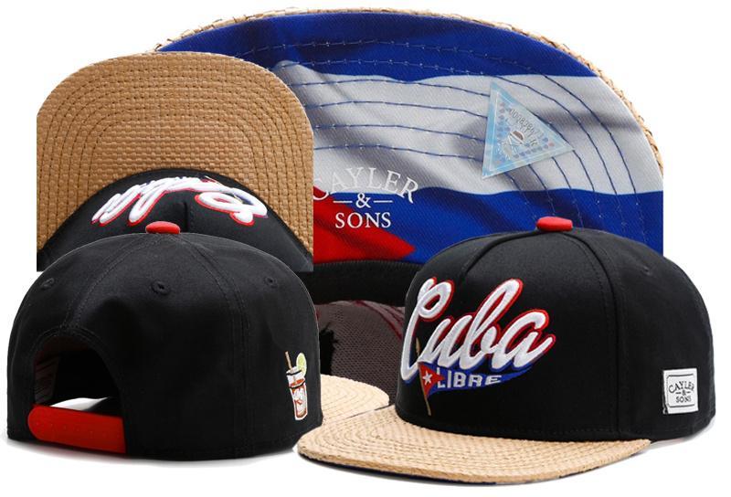 6fadd11765d9f Compre Nueva Marca CS CUBA LIBRE CAP Bandera Cubana Negro Gorra De Béisbol  Snapback Sombrero Deportes Hip Hop Sol Adulto Tapa Activa Para Hombres  Mujeres ...