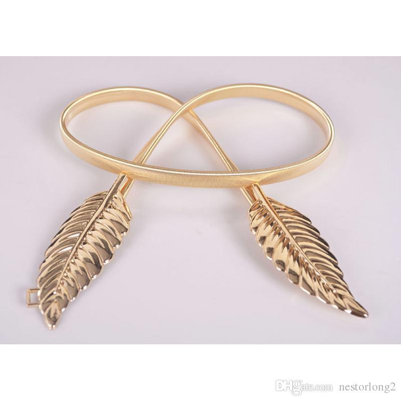 2016 nuove donne d'argento d'oro alla moda lascia vestito elastico cintura cinturino cinturino promozione vendita all'ingrosso