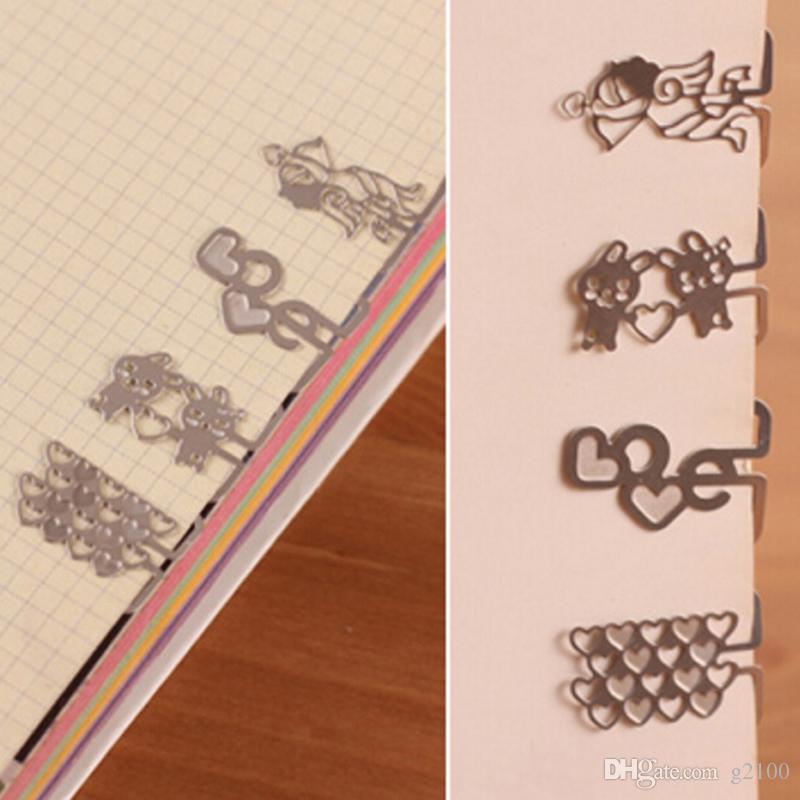 high quality mini metal bookmark cartoon shape book mark stationery