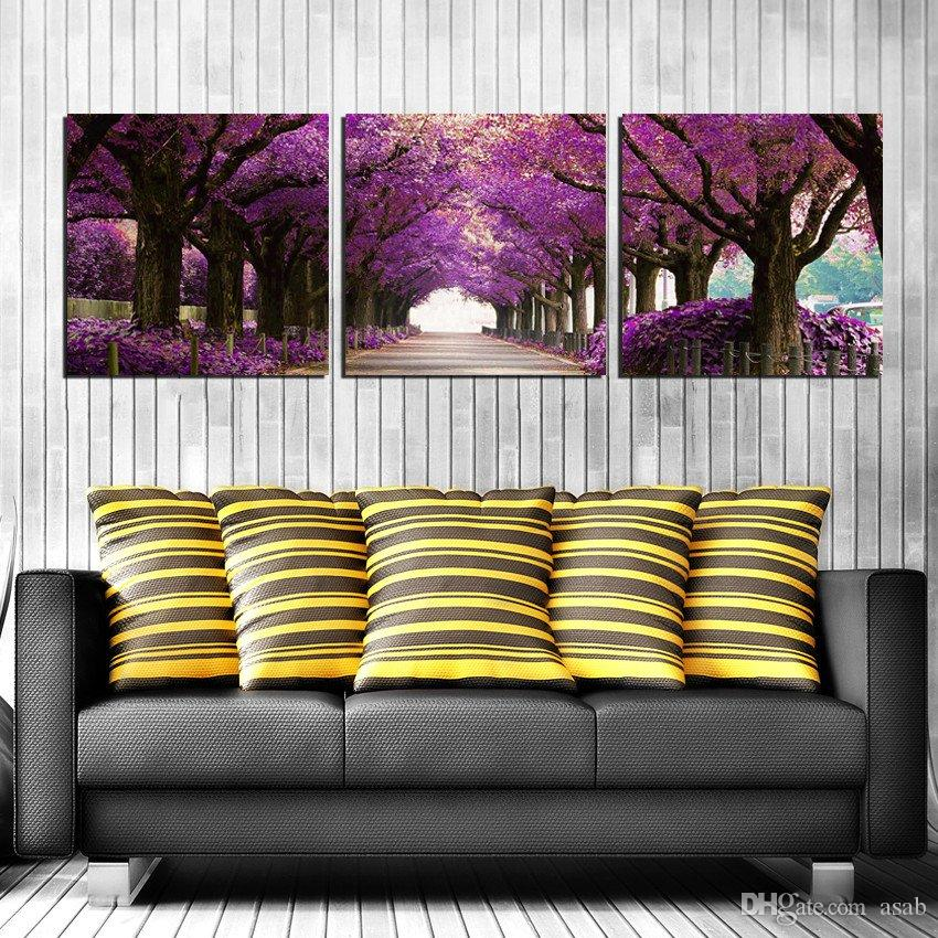 Unframed art picture Canvas Prints potted flower tree Forest path Plum peony bird chinese characters Lotus rose