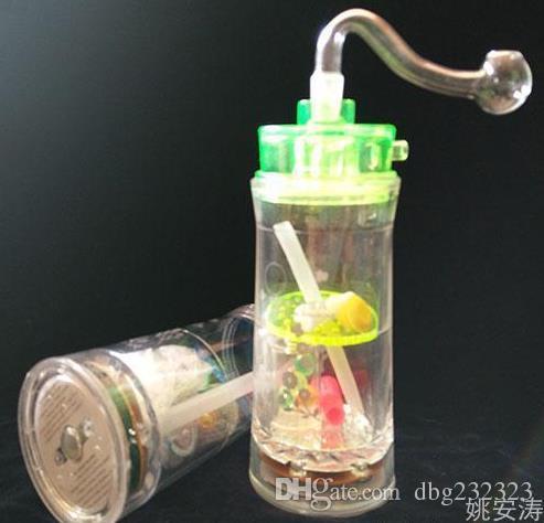 무료 배송 --- 조명이 붙은 램프 아크릴 물 담뱃대 - 유리 훅 담배 파이프 유리 - - 석유 굴착 유리 봉합 유리 물 담뱃대 담배 파이프 - vap-