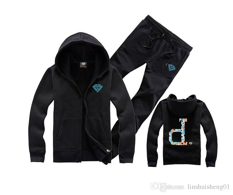 New diamond supply co men's Fashion hooded pullover sweater hiphop Skateboard Plus velvet hoodies casual coats