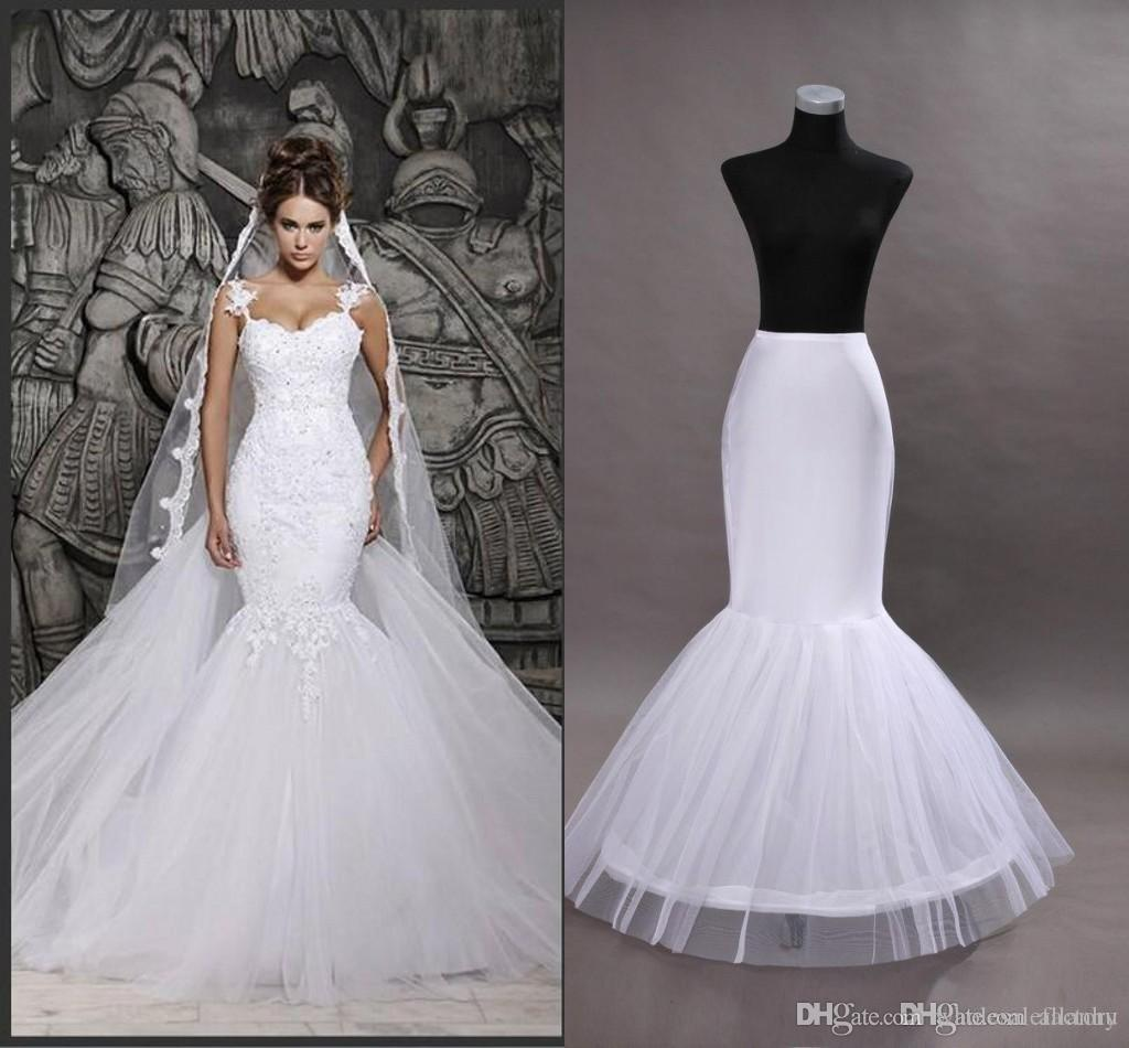 Cheap Ready to Ship One Hoop Petticoat Crinoline For Mermaid Wedding ...