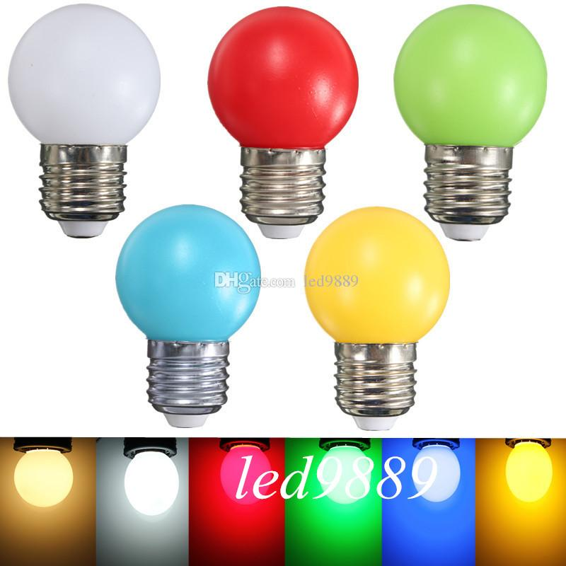 1 Stücke 220 V Hause Beleuchtung Bunte Led Lampe Ampulle E27 3 Watt  Energiesparende Licht Rot Orange Gelb Grün Blau Milch Rosa Lampe Smd2835