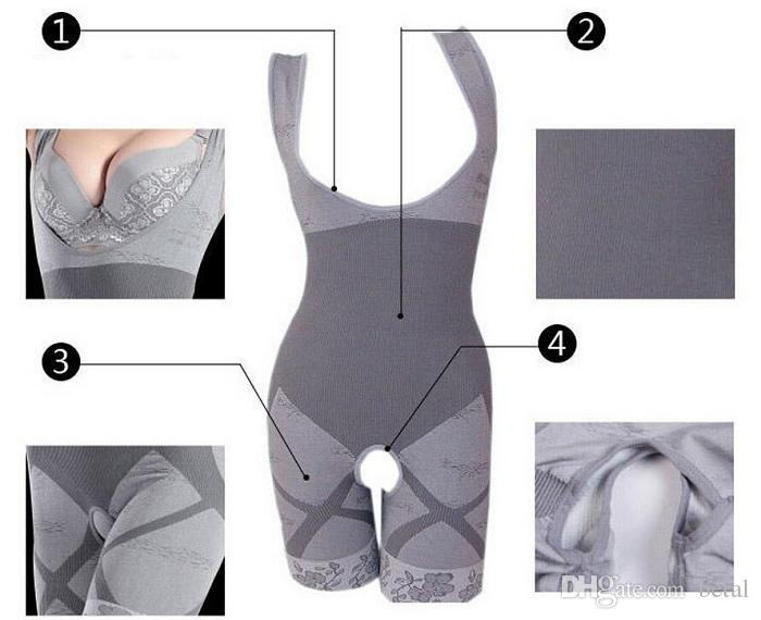Bamboo Fiber Magic Slimming Beauty Underwear Bamboo Charcoal Women Slimming Suits Pants Bra Bodysuit Body Shaper