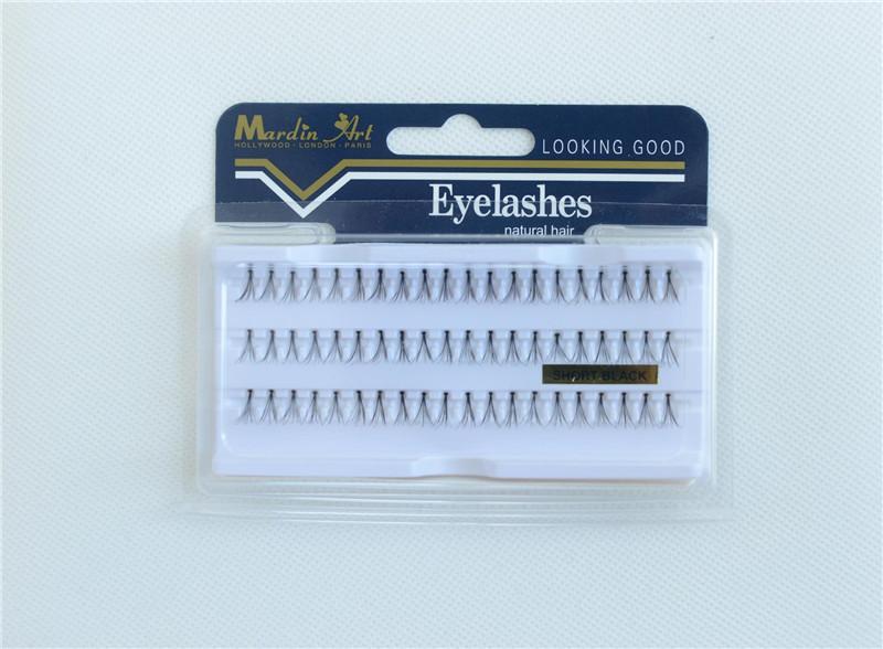 False Eyelashes Natural Hair Individual Lashes Extensions Permanent Eye Makeup Long Stay Fake Eyelash Flare Black Reusable Lash 10mm 13mm