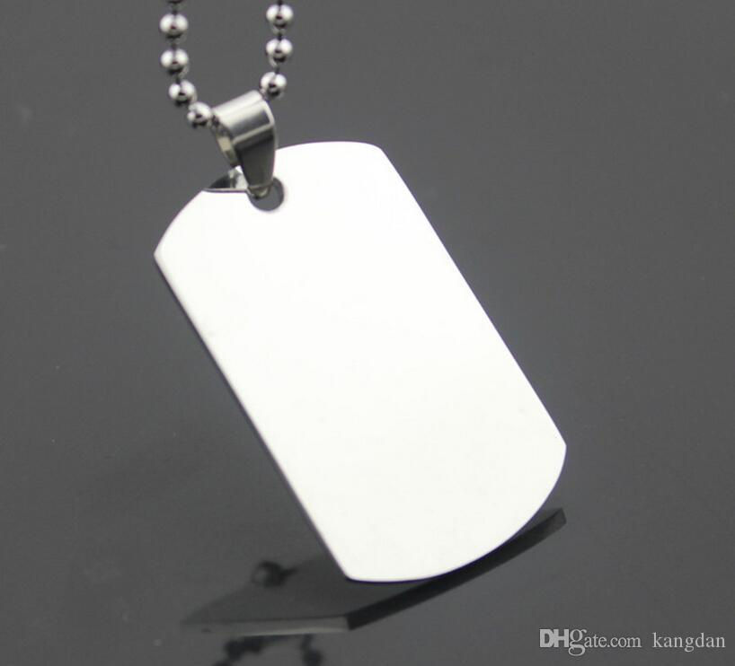 wholesale blank engravable stainless steel pet cat dog tag army men