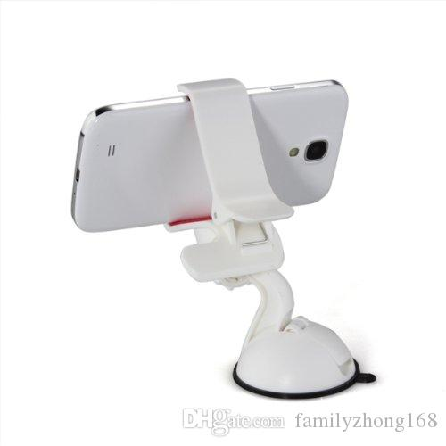 360 degree Car Windshield Mount cell mobile phone Mounts & Holders Bracket stands for iPhone5 4S for samsung Smartphone