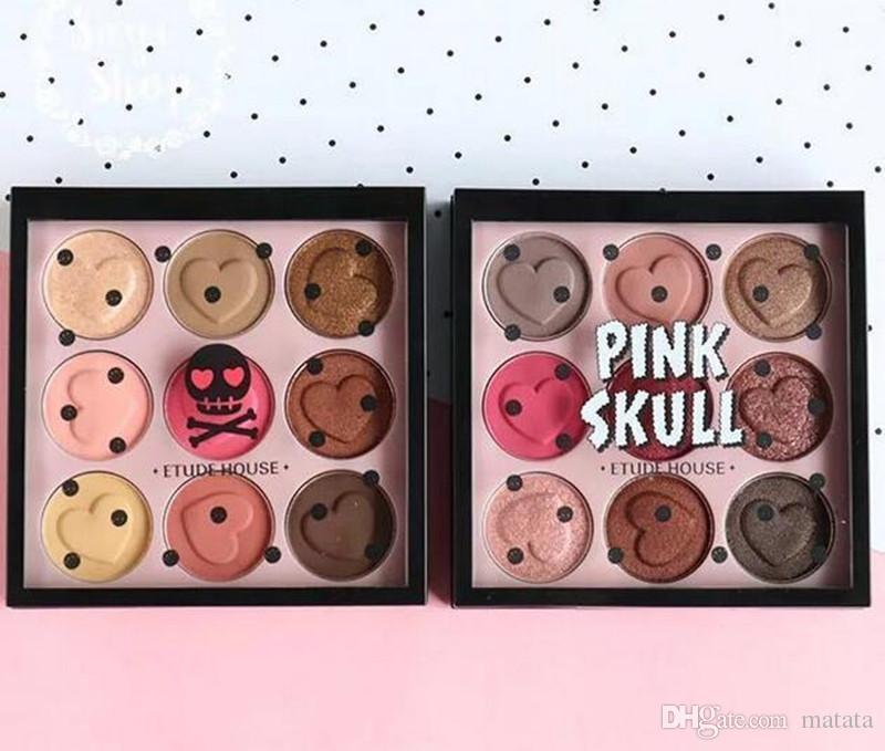 Новый макияж палитры Этюд дом розовый череп цвет глаз палитра теней для век 9 цвет палитры теней для век DHL