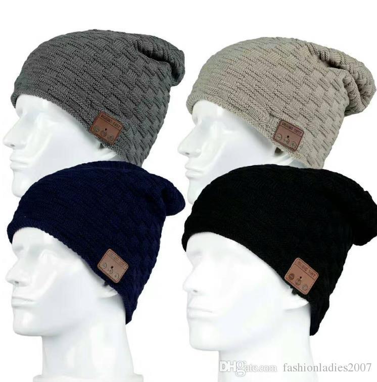 Wireless Bluetooth 3.0V Beanie Knitted cap Plus Velvet Winter Hat Headset Speaker Mic Hand-free Music Mp3 Magic Smart Cap S773