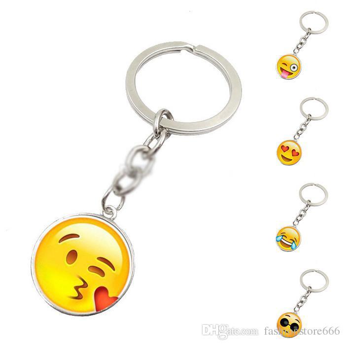 12 Designs Funny Emoji Smile Metal Keyring Rhodium Plated Split Key Rings  Findings Keychain Key Rings Kid S Women S Gift Keychains For Men Designer  Keyrings ... e3c6d0338a