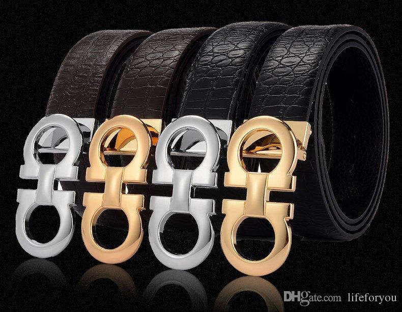 1661e6d92e564 Compre Diseñador Original Big Hebilla Cinturones Hombres De Lujo Correa De  La Hebilla De Moda Para Hombre Cinturones De Cuero Genuino Envío Gratis A   10.06 ...
