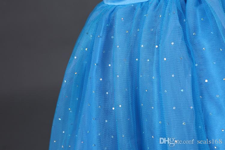 여자 신데렐라 공주 드레스 어린이 영화 파티 공 가운 드레스 나비 착용 레이스 코스프레 의상 할로윈 크리스마스 의류 PX-A05
