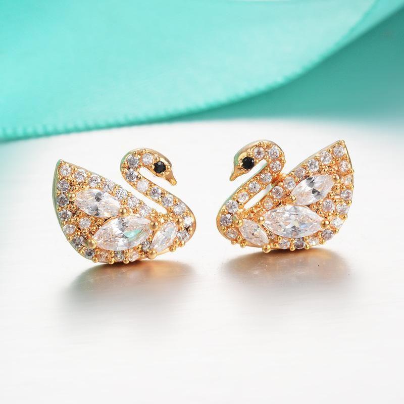 Stud Earrings For Women Fashion Gold Earring Animal Cute Cartoon ...