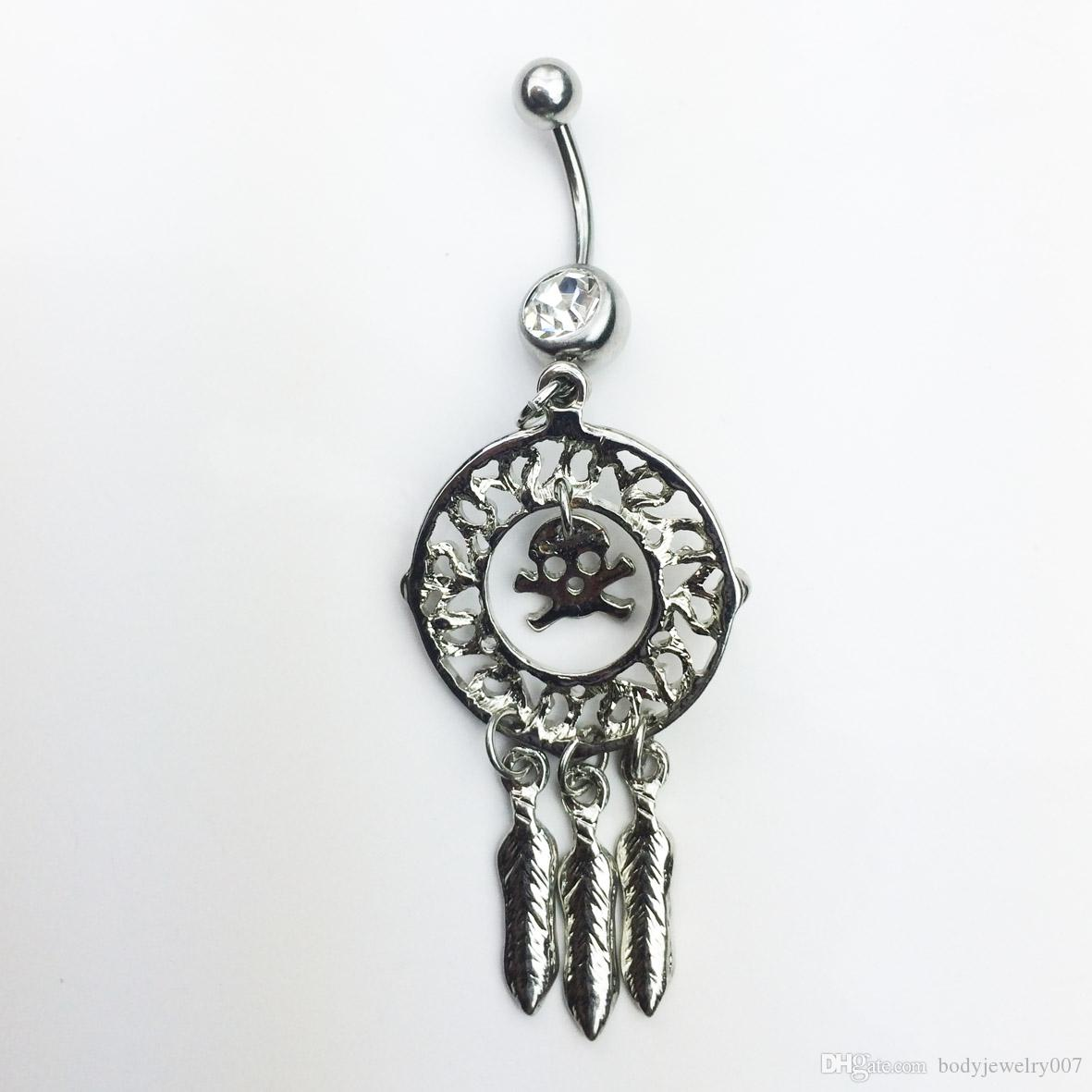 D0647   styl belly ring belly ring style dream catcher style Rings Body Piercing Jewelry Dangle Accessories Fashion Charm