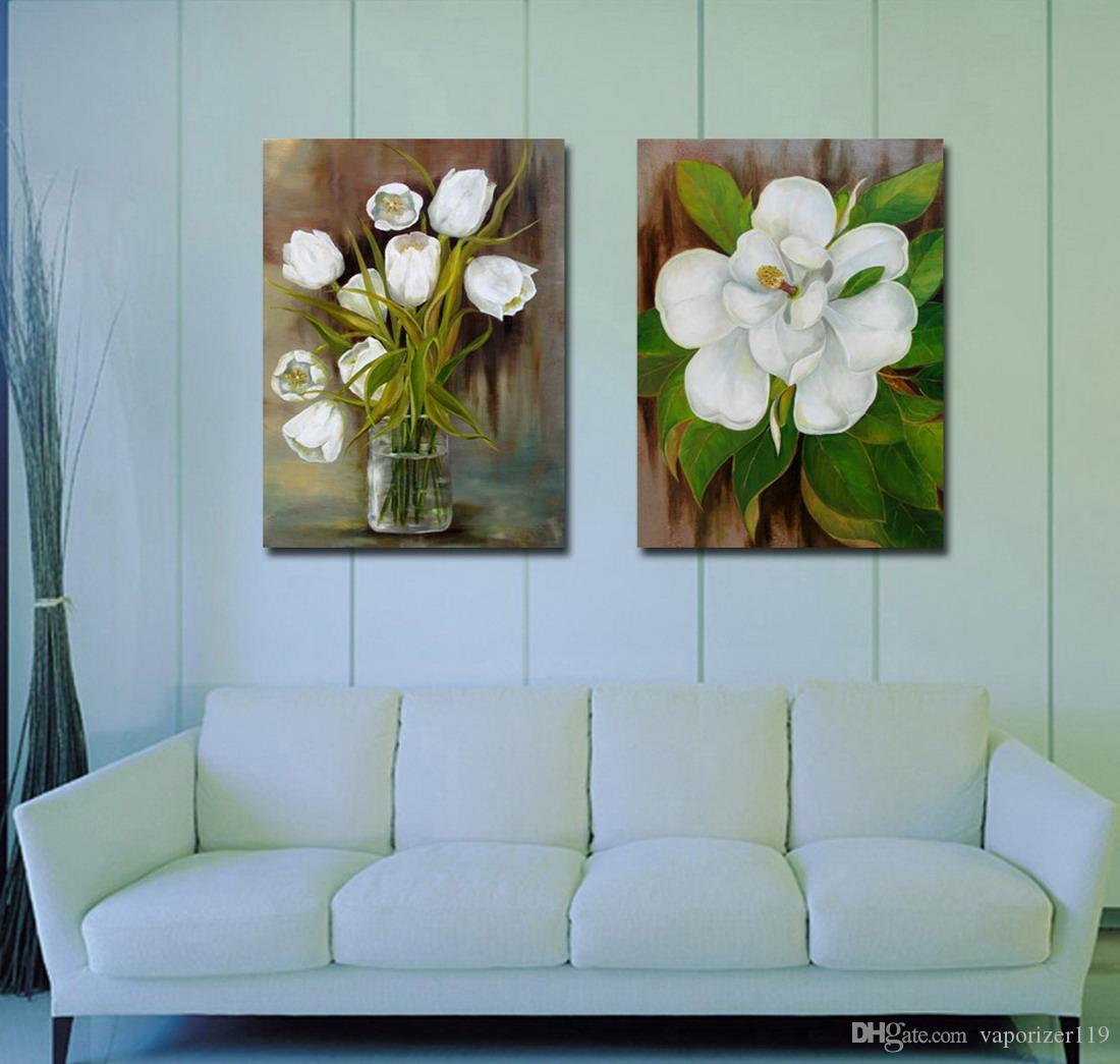 Contemporary Beautiful Flower Painting Giclee Print On Canvas Home