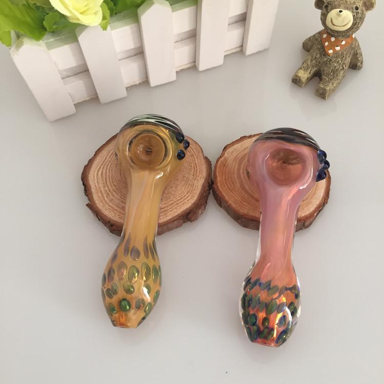 Mini tubi cucchiaio di vetro nuovo tubo di progettazione fumare fatti a mano Bella alta miscela molti stile di alta qualità di colore