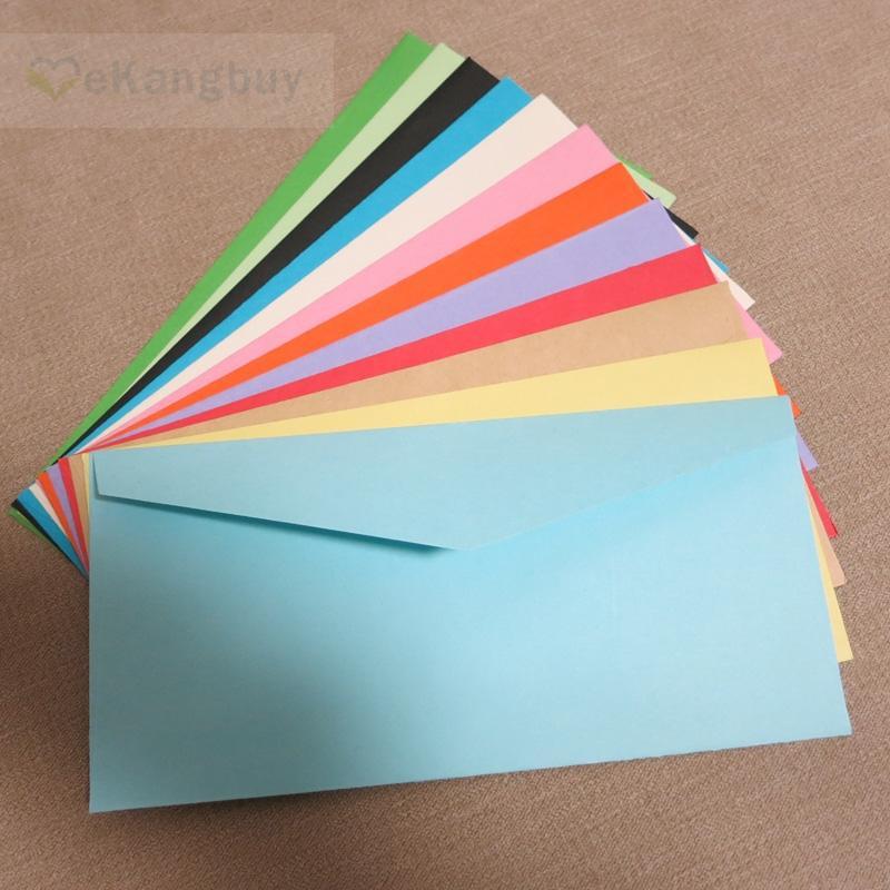 2018 wholesale 22x11cm color paper envelope wedding invitation