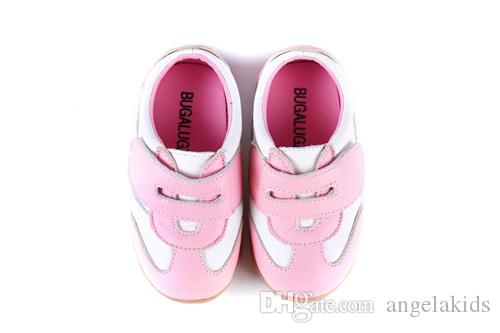 Childrens Shoes Baby Boys Sneakers Soccers Girls Sneakers Children Leather Shoes Pink Red Black Navy Genuine Leather Flexible Sole