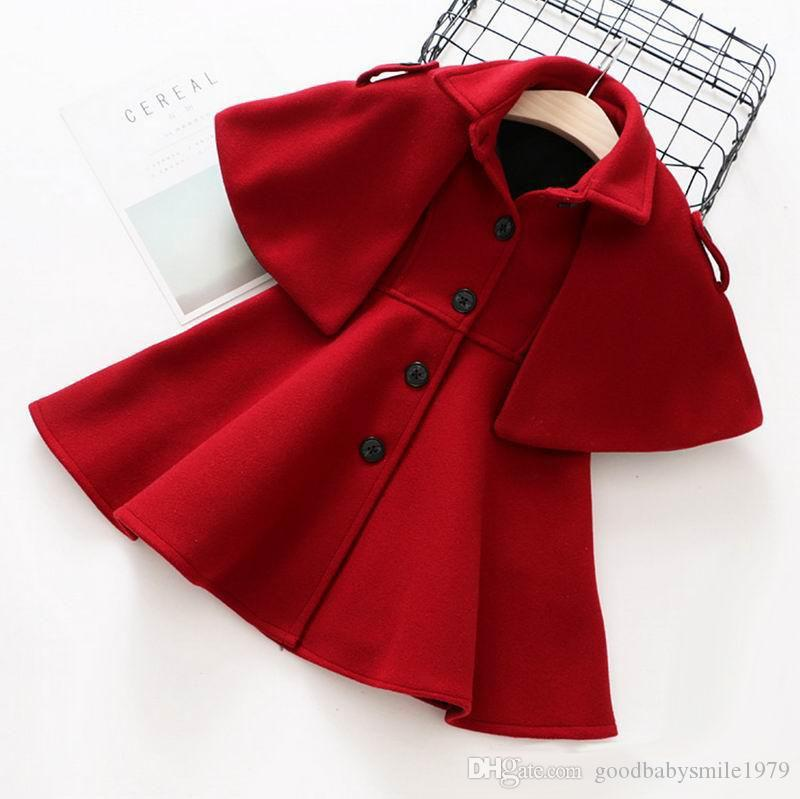 7f533e680 2017 New Autumn Winter Kids Girls Woolen Outwear Princess Woolen ...