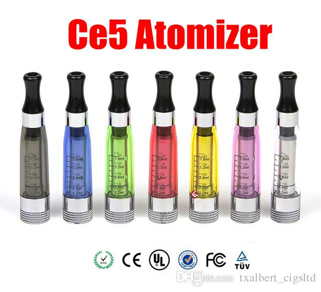 CE5 EGO Atomizer long Wick 1.6ml Clearomizer E Cigarette Atomizer for eGo T eGo Q vision spinner battery Ego series CE4S CE4