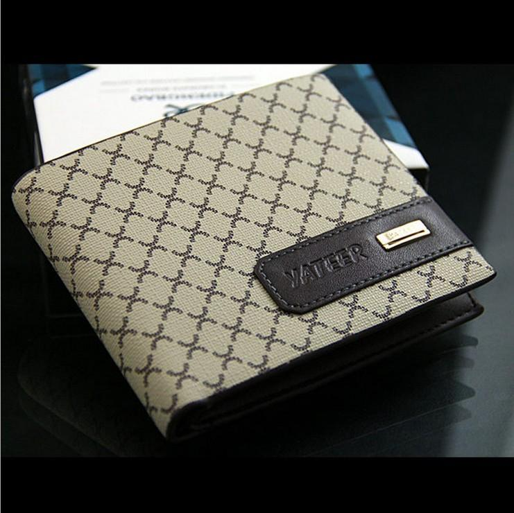 Factory Sale Brand Yateer Fashion Men Wallets Plaid Pattern Card ...