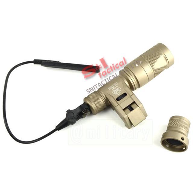 Tactical IFM CAM Scout Light Gun luce Anodizzazione dura alluminio QD CREE LED Torcia a doppia uscita Nero / Terra scura