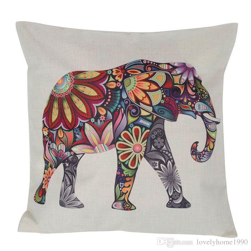 Animal Home Sofa Decor Linen Pillow Cases Waist Pillowcase Throw Cushion Cover