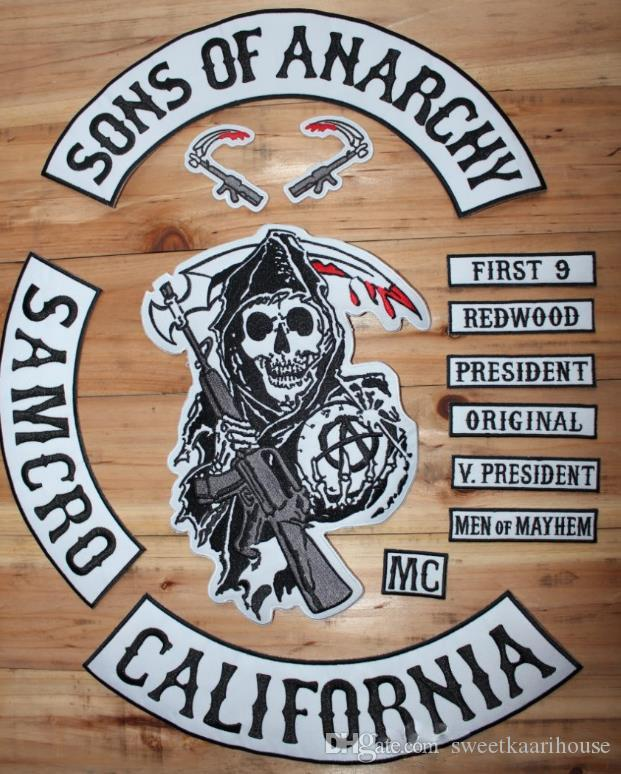 Online Cheap Sons Of Anarchy Embroidery Twill Patches For Jacket