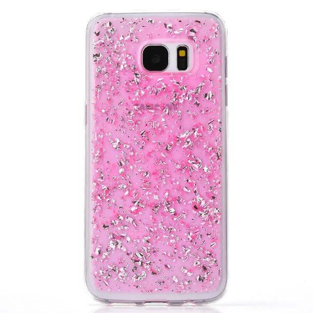 Gold Foil Glitter Bling Platinum Soft TPU Case Silicone Clear For Samsung Galaxy G530 J1 ACE S7 EDGE Iphone 6S 6 Plus 4.7 5.5 5 5S Skin Back