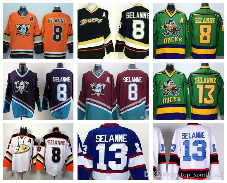 5016bfb76 ... release date 2018 anaheim ducks 8 teemu selanne jerseys ice hockey  stadium series vinatge fashion team