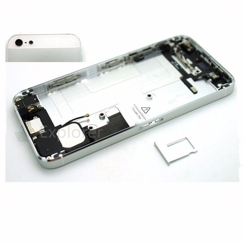 العلامة التجارية الجديدة للآيفون 5 5G 5S الإنشائية كاملة الإسكان الغطاء الخلفي غطاء البطارية مع استبدال الكابلات أزرار جانبية مع الجمعية أجزاء صغيرة