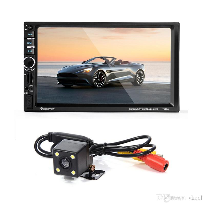 2 DIN 1080P Universal Car DVD Video Player 12V Touch Screen Bluetooth GPS Navigation MP3 MP5 Player Auto Audio Stereo Radio Rear View Camera