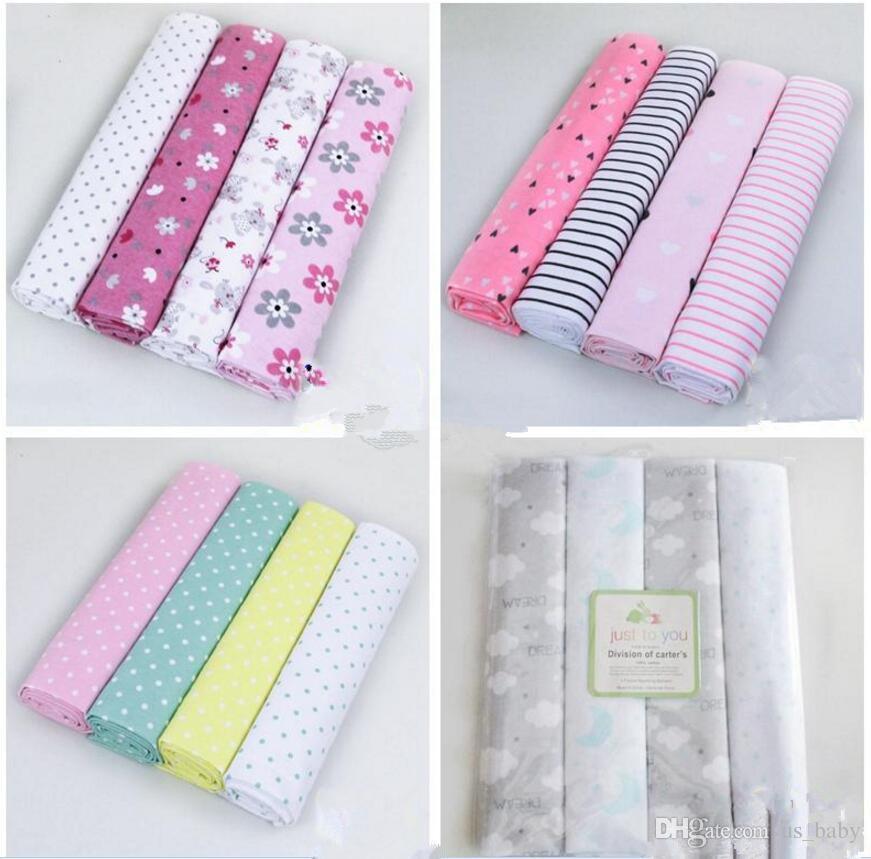 Cobertor de algodão recém-nascido infantil dos desenhos animados aden anais cobertor de musselina swaddle cobertor cobertor da criança 102 * 76 CM / 40 * 30 polegadas 4 pçs / set