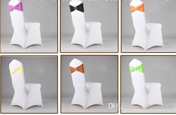 دنة ليكرا كرسي الزفاف غطاء الوشاح فرق حفل زفاف عيد ميلاد رئيس مشبك sashe الديكور الألوان المتوفرة WT032