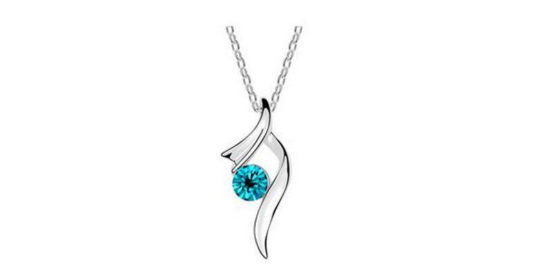 Австрия мода Кристалл Ожерелье для женщин лучший подарок посеребренные сплава Циркон ожерелье 5 цветов 20 шт. Оптовая Бесплатная доставка B113