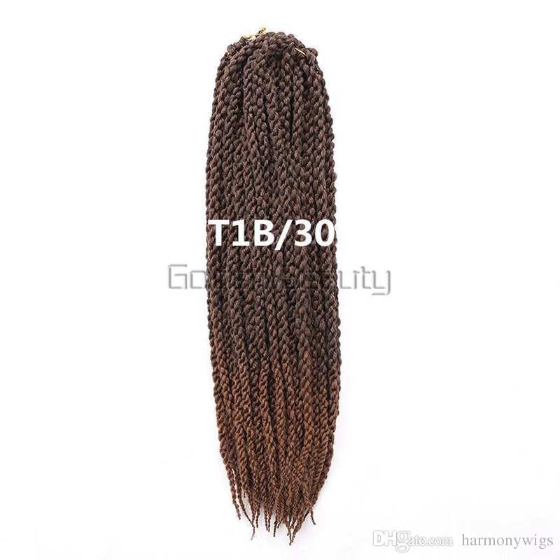 120g 22 pollici 3d cubic twist intrecciare i capelli sintetici trecce all'uncinetto avana mambo senegalese twist estensioni dei capelli più colori